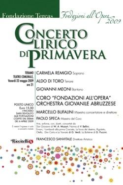 Concerto Lirico di Primavera Teramo maggio 2009