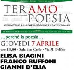 TeramoPoesia Aprile 2011 D'Elia Buffono Biagini