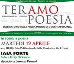TeramoPoesia Aprile 2011 Iaia Forte