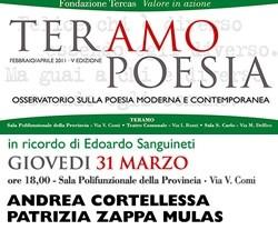 TeramoPoesia Marzo 2011 Cortellessa Zappa Mulas