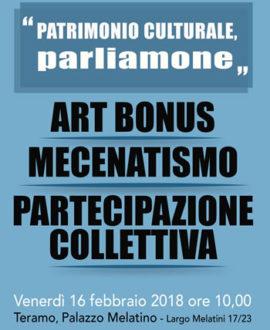 Patrimonio Culturale Parliamone 16 febbario 2018 350 x 430