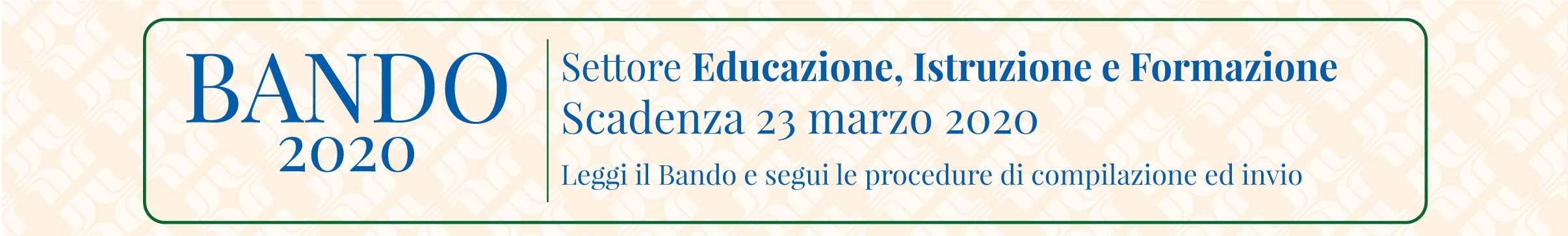 Bando Istruzione 2020 in BLU per Home Page