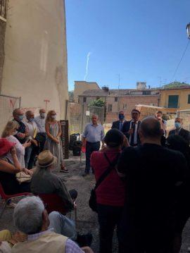 foto conf stampa teatro romano acquisizione palazzo adamoli