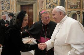 Presidente Di Sante udienza Papa Francesco